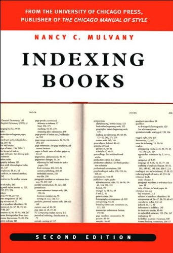 Read Online Indexing Books (text only) 2nd(Second) edition by N. C. Mulvany pdf