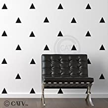 Triangles 4x4 Set of 51 wall pattern vinyl decal stickers (Black)