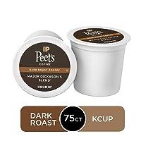 75Ct Peets Coffee Major Dickasons Blend Dark Roast K-Cup