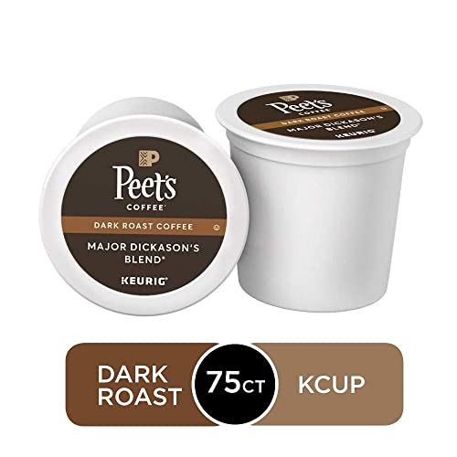 Peet's Coffee Major Dickason's Blend, Dark Roast, 75 Count Single Serve K-Cup Coffee Pods
