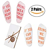 Wine Socks - Funny Wine Gifts with Gift Box''If You Can Read This'' Socks,Best Novelty Gifts for Wine Lover,Mom or Wife,Perfect Valentines Day,White Elephant,Birthday,Hostess or Housewarming Gift Idea