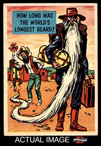 1957 Topps Isolation Booth # 86 World's Longest Beard (Card) Dean's Cards 3 - VG (Longest Beard)
