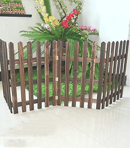 ZENGAI Fence Outdoor Cut Off White Solid Wood Flower Racks W
