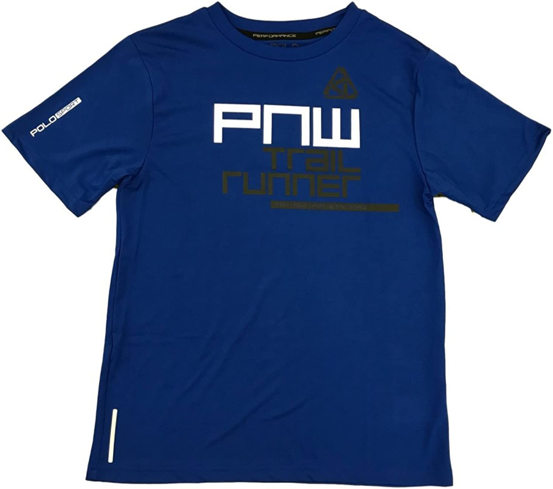 Boys Polo Sport Ralph Lauren Trail Runner Short Sleeve Athletic Shirt