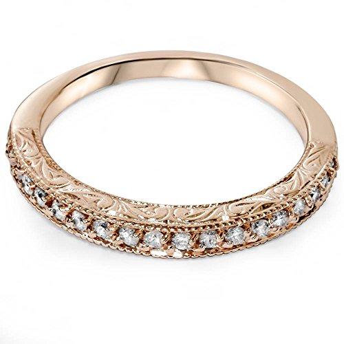 1/2ct Vintage Diamond Rose Gold Wedding Ring 14K by Pompeii3 Inc. (Image #2)