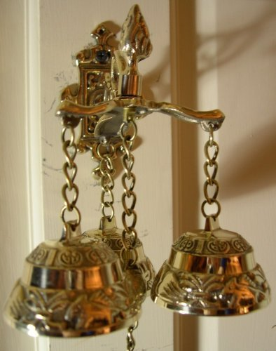 Amazon.com : Antique Style Shopkeepers Triple Bell ~ Brass Store Doorbell :  Office Desk Call Bells : Office Products