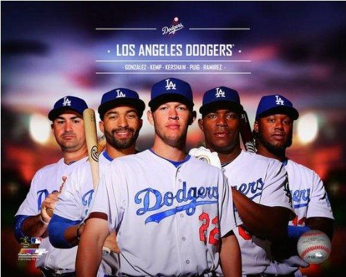 Los Angeles Dodgers 2014 Team Composite Photo (Size: 8