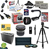 47th Street Photo All Sport Accessory Kit For the Canon 450D, 1000D, XS, XSi - Kit Includes: 64GB High Speed SDXC Card + Card Reader + 2 Extended Life Batteries + Dual Battery Charger + 58MM Opteka HD2 0.20X Wide Angle AF Fisheye Lens + 58MM 2.2x HD2 AF T