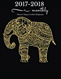 img - for Elegant Golden Elephants 2017-2018 Monthly Planner: 17 Month Planner - August 2017 To December 2018 Monthly Planner Year Calendar Schedule Organizer ... (2017-2018 Calendar Planner) (Volume 1). book / textbook / text book