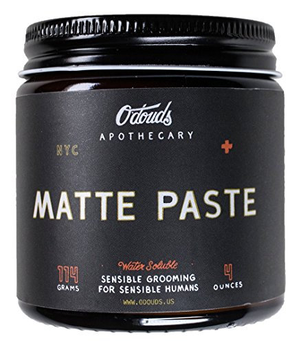 - O'Douds - All Natural Matte Paste Hair Styling Cream (Firm Hold, Cedar Citrus Scent)