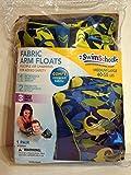 Swim School Fabric Arm Floats - Sharks - Green/Blue - Medium/Large 40-55 lbs