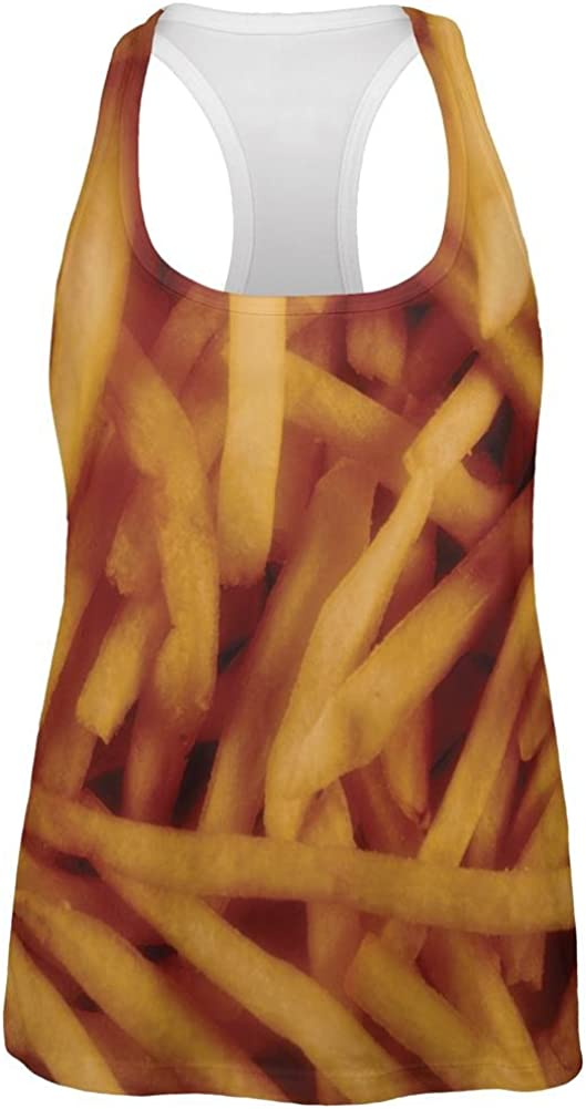 Old Glory Fast Food Golden French Fries Costume All Over Womens Work Out Tank Top