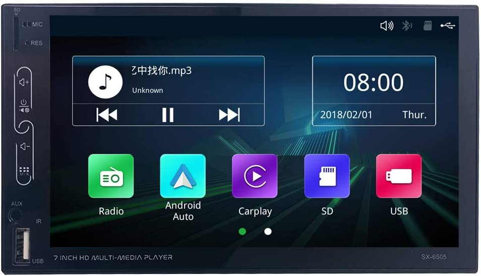 Scumaxcon 7 2 Din Autoradio Carplay Android Auto Elektronik