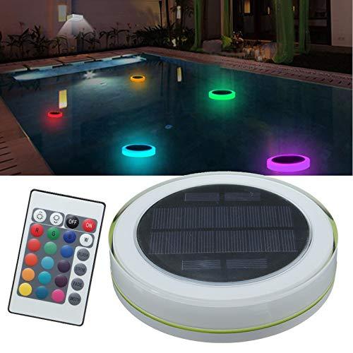 JCHUNL Sonnenenergie RGB unter Wasser-LED-Garten-Teich-Swimmingpool-sich hin- und herbewegendem Licht New Hot