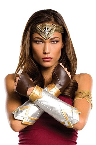 Wonder Woman Halloween Costume Makeup (Rubie's Women's Wonder Woman Costume accessories, As Shown, Justice)