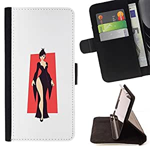 Momo Phone Case / Flip Funda de Cuero Case Cover - Elegante Negro;;;;;;;; - Sony Xperia Style T3