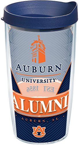 - Tervis 1223959 Auburn Tigers Alumni Tumbler with Wrap and Navy Lid 16oz, Clear