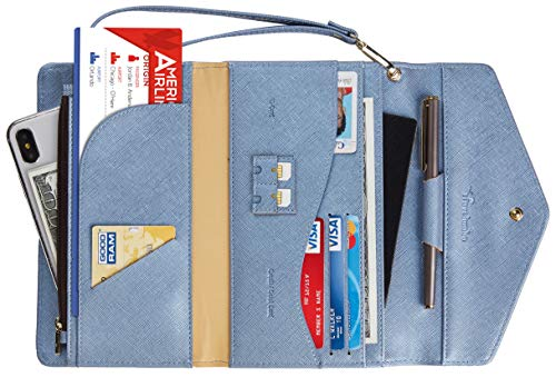 (Travelambo Rfid Blocking Passport Holder Wallet & Travel Wallet Envelope Various Colors (CH Gold)