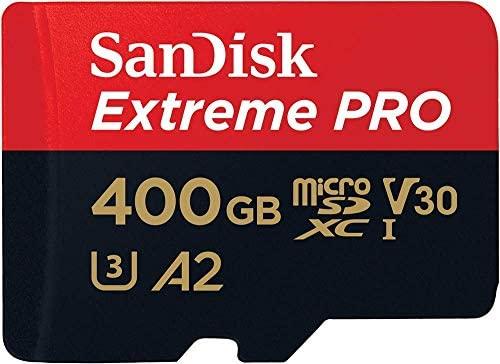 SanDisk Extreme PRO - Tarjeta de memoria microSDXC de 400 GB con adaptador SD, A2, hasta 170 MB/s, Class 10, U3 y V30 + MobileMate Lector de tarjetas ...