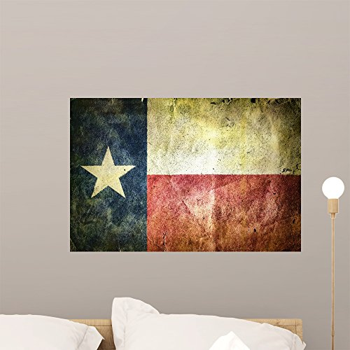 Discount Wallmonkeys Flag State Texas Wall Mural Peel and Stick Graphic ( ) WM106646