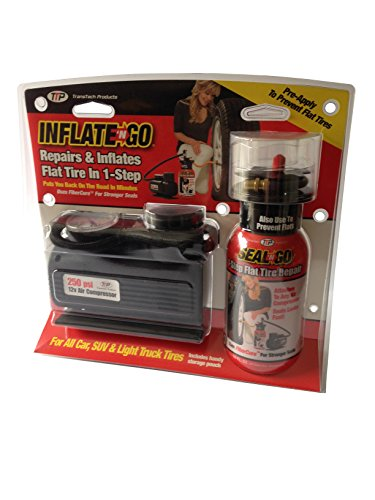 Inflate 'N Go Fix a Flat Tire Emergency Repair Sealant Kit with 12 V Air Compressor (Truck Flat Tire Repair Kit compare prices)