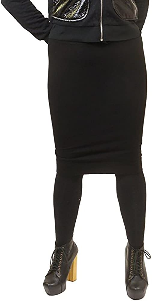 Hard Tail Forever Wide Cut Cotton Pencil Skirt, Knee Length - Style: W-525