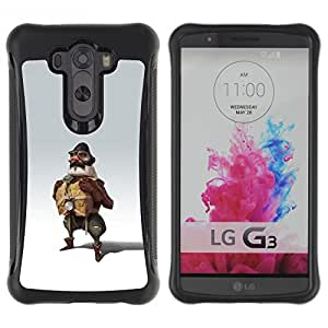 SHIMIN CAO@ Pilot Man Attire Uniform Art Painting Fly Rugged Hybrid Armor Slim Protection Case Cover Shell For LG G3 D858
