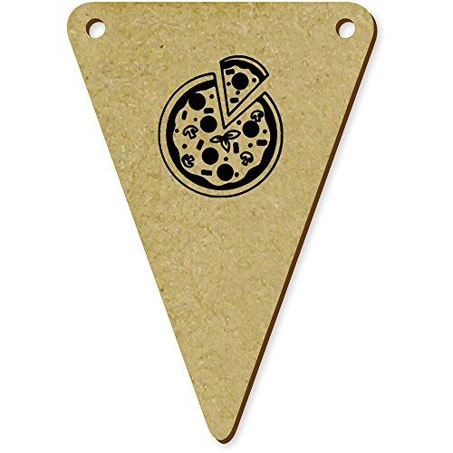 Azeeda 5 x 70mm 'Pizza' Wooden Bunting Flags
