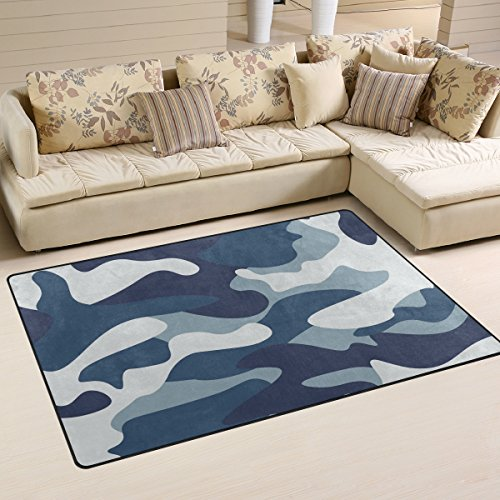e Army Camouflage Floor Rug Non-slip Doormat for Living Dining Dorm Room Bedroom Decor 60x39 Inch ()