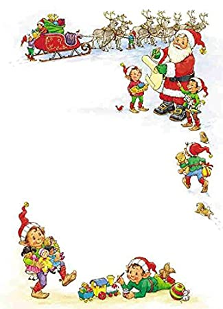 100 a4 sheets christmas writing paper stationery ideal for santa letters invitations and