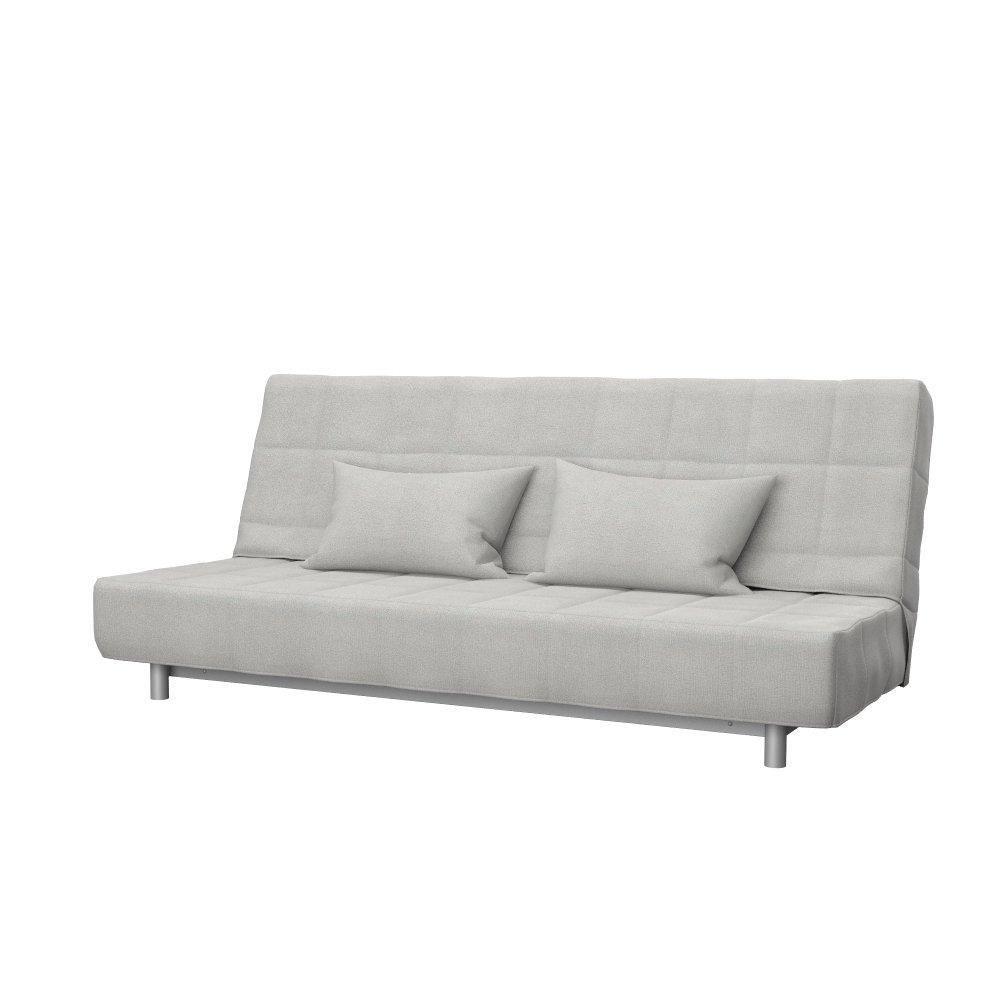 Soferia - Bezug fur IKEA BEDDINGE 3-er Bettsofa, Glam Light Grau