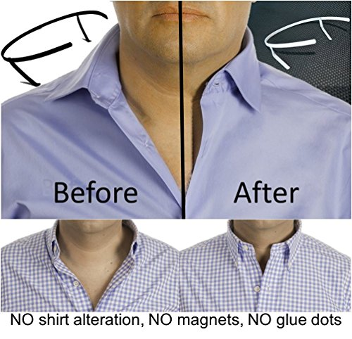 THE ORIGINAL Collar Support | Collar Stays & Placket Stays (SELECT YOUR SHIRT COLLAR SIZE) size 15.5 Light