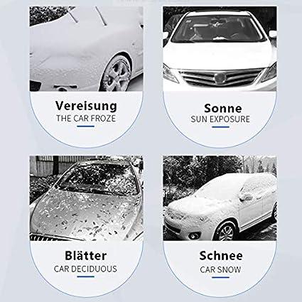EIS Vershow Frontscheibenabdeckung Auto Scheibenabdeckung Windschutzscheibe Abdeckung Magnet Fixierung Faltbare Abnehmbare Auto Abdeckung f/ür die Windschutzscheibe gegen Schnee Staub Sonne Frost