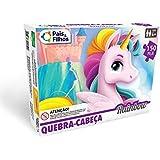 Quebra-Cabeça Rainbow, Pais & Filhos, Rosa, 150 Peças