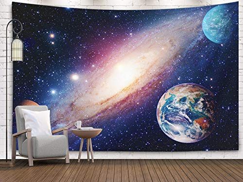 (Bisead Wall Art for Bedroom Tapestry, Map Art Tapestry 80x60 inchs Astrology Astronomy Earth Outer Space Solar System Mars Planet Milky Way Galaxy Elements Wall Hanging Gifts for Bedroom Dorm Décor)