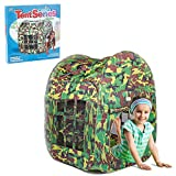 Mini Horse Army Green Camouflage Foldable Pop up Play Tent Great for Kids Indoor and Outdoor Tent Toys as a Best Gift for 1-10 Kids/boy/Girls/Baby/Infant
