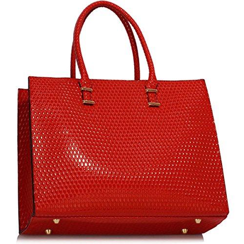 Xardi London, Borsa tote donna large Red Embossed