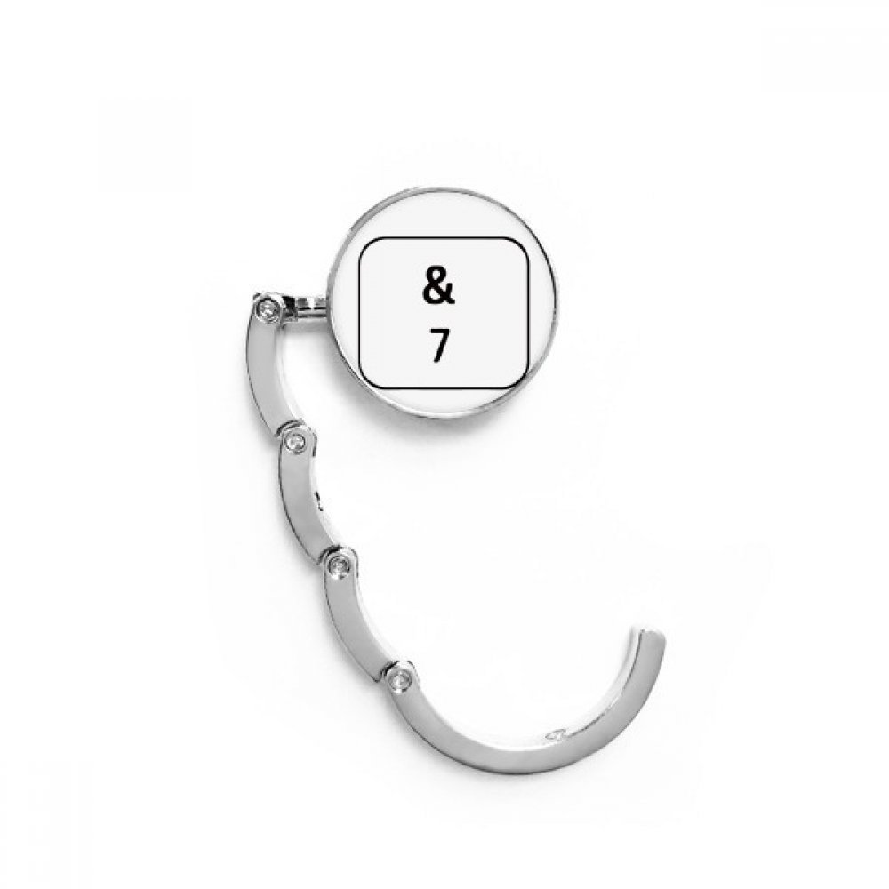 Keyboard Symbol 7 Table Hook Folding Bag Desk Hanger Foldable Holder