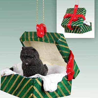 Chow Chow Green Gift Box Dog Ornament - Black