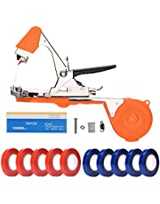 FUNTECK Plant Tying Tool Tapener Hand Tying Machine for Grapes, Raspberries, Tomatoes and Vining Vegetables, Comes with Tapes, Staples and Replacement Blades