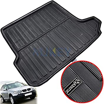 For X3 E83 2004 2005 2006 2007 2008 2009 2010 Tailored Boot Liner Cargo Tray Rear Trunk Liner Floor Mat Sheet Carpet Luggage Tray Waterproof