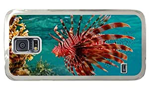 Hipster Samsung Galaxy S5 Case glitter Fire Fish PC Transparent for Samsung S5