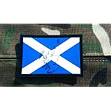 Embossed Scotland Flag Airsoft Paintball PVC Patch