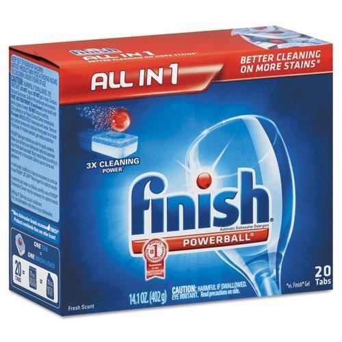 RECKITT BENCKISER PROFESSIONAL Powerball Dishwasher Tabs, Fresh Scent, 20/Box (77050)