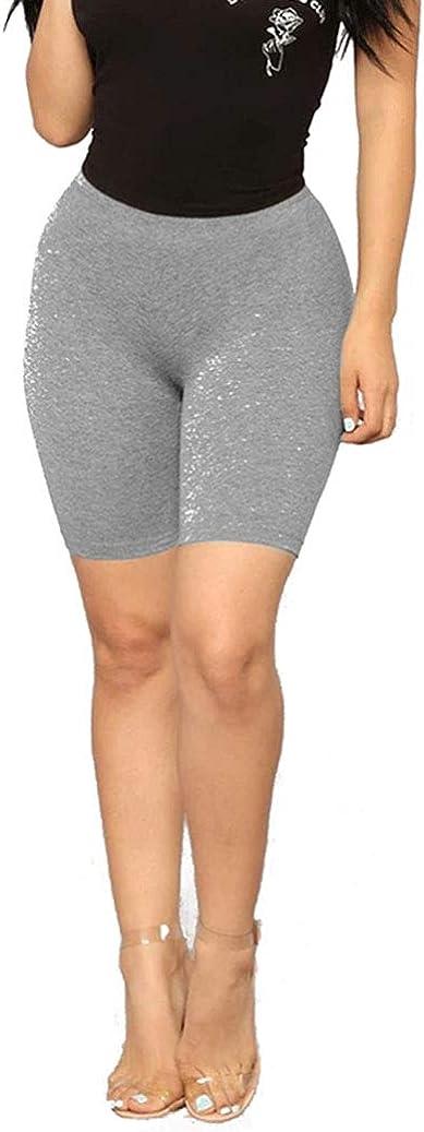 Women Snakeskin Print Biker Shorts High Waist Active Gym Workout Yoga Short Leggings Skinny Pants