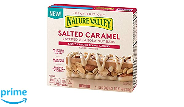 Nature Valley Salted Caramel Peanut Almond Layered Granola Nut Bars 5ct: Amazon.com: Grocery & Gourmet Food