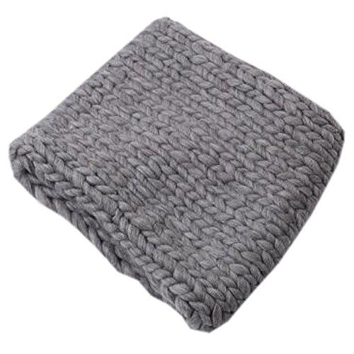 要塞きれいに喜ぶレディース女性の暖かいソフトスカーフ厚手編みカラースカーフNeckerchiefネックウォーマー、グレー