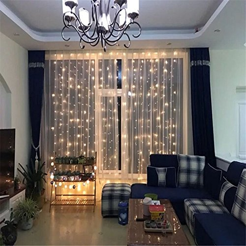 DLIUZ UL Safe 304 LED 9.8Feet Connectable Curtain Lights Icicle Lights Fairy String Lights with 8 Modes for Wedding Party Family Patio Lawn Decoration by DLIUZ (Image #3)