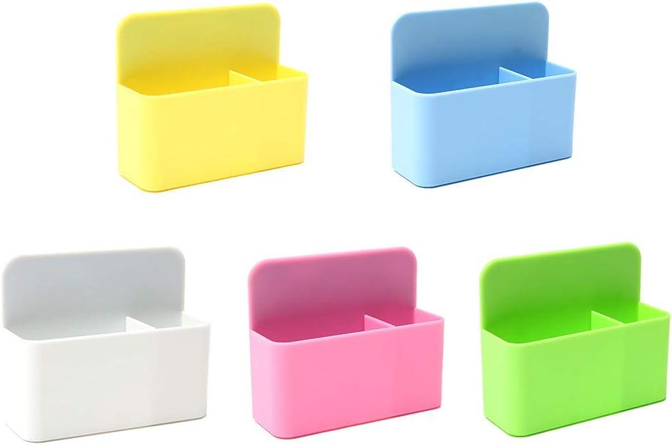 Liaobeiotry Magnetische Whiteboard-Marker Stifthalter Organizer Aufbewahrungsbox B/üro Aufbewahrungsboxen wei/ß