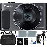 Canon PowerShot SX620 HS Digital Camera (Black) - International Version (No Warranty) 32GB 18PC Accessory Kit Which Includes Two Replacement NB-13L Batteries, 5 Piece Camera Cleaning Kit, MORE